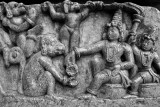 Rama giving Hanuman the ring to give Sita, Halebidu