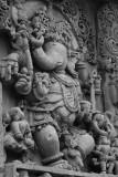 Pure form of Ganesha - notice the trunk facing right, Halebidu