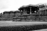 A view of both shrines, Halebidu