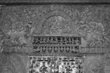 Intricate art inside the main mantap in Belur