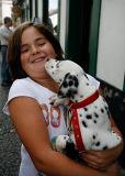 Pongo and girl
