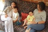 Baptiste, Florian, maman et mamie Sylvie