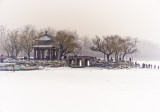 summer palace. frozen lake. dead of winter Beijing China