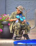 Blue violin