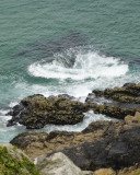 love watching patterns formed by waves breaking over isolated rocks