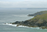 Hor point & Pen Enys with Godrevy receding near horizon