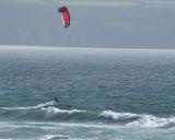 kite surfing on Gwithian beach