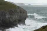 high tide at Chapel Porth