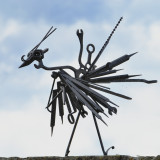 one of many fun scrap sculptures by Ian Young