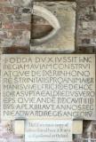 the replica of the explanatory stone