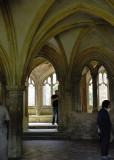 part of the original abbey looking towards the cloisters