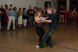 A demo of blues dancing by Jeff and Megan