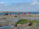 En annan vy över Lilla Flöjskärs camp N5