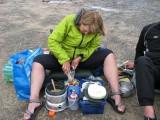 Alice förbereder sin pastarätt