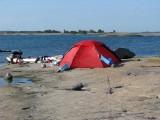 Lars Åkes strandtomt på Rödgloskär