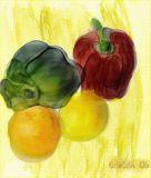Painter 7 Watercolor veggies