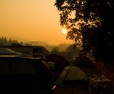 Sunrise Through Smoke