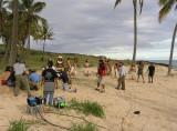 NBC were broadcasting live from Isla de Pascua.....