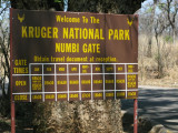 Numbi Gate Sign
