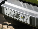 Number plate with an attitude