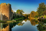 Moat reflections, Wells, Somerset (1894)