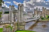 Suspension bridge, Conwy, North Wales