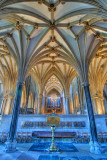 Vaulted ceiling and pipes, Wells Cathedral (3217)