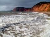 Surf and cliffs, Sidmouth