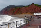 Red rock and surf, Sidmouth