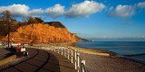 Railings and cliffs, Sidmouth