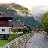 Stream and bridge, Les Diablerets