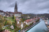 Cathedral and river, Bern