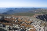 Looking down from Katahdin towards start of Cathedral and Saddle trails
