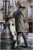 Barcelona Statue man
