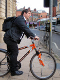 David Brook on Bike