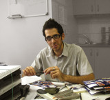 Parham in his tiny office