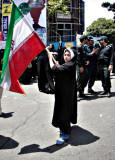 Young Girl & Flag