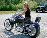 Trish And Her Ride ( Big Dog )