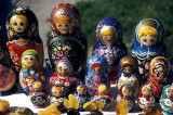 Russian nesting dolls for sale at Klaipeda