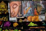 Buddha art at the Sunday night market