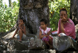 Local people near Nan Madol