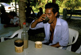 Swallowing down sakau, a form of kava