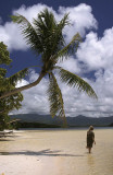 A beach on the atoll which surrounds Pohnpei