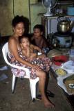 Polynesian family at Kapingamaringa village