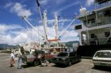POHNPEI, MICRONESIA: Inter-island steamer preparing to sail