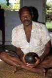 Village priest with magic stones, Viti Levu