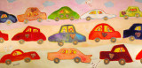 Cars and Hearts I: 24 x 48-SOLD
