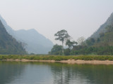 A rare flat piece of riverbank