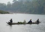 Three women in a boat, Muang Ngoi