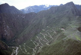 The road up to Machu Picchu from Agua Calientes